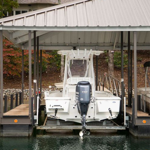 boat lift, lake living, boats, boating
