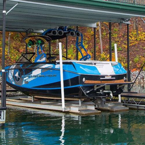 boat lift, sturdy boat lift, best boat lift, rough water boat lift