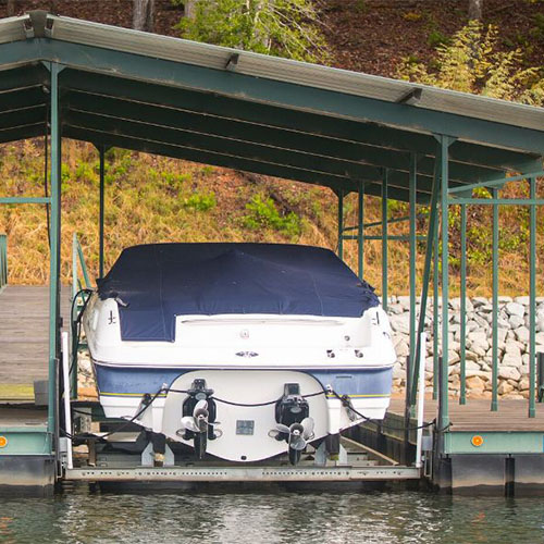 boat lift, lake hartwell, custom built boat lift, boating