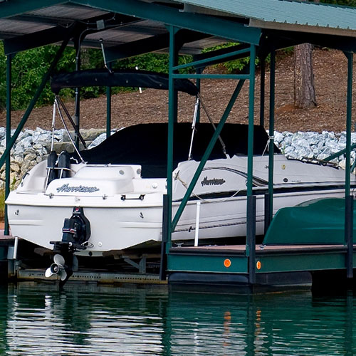 hurricane boat, boat lift, lake living, lake hartwell boat lifts