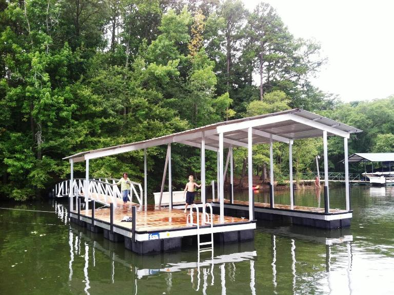 aluminum floating dock, floating dock lake keowee, floating dock lake thurmond, floating dock lake hartwell