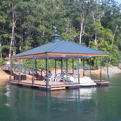 boat docks, dock ladder, arched walkway, hip roof, aluminum