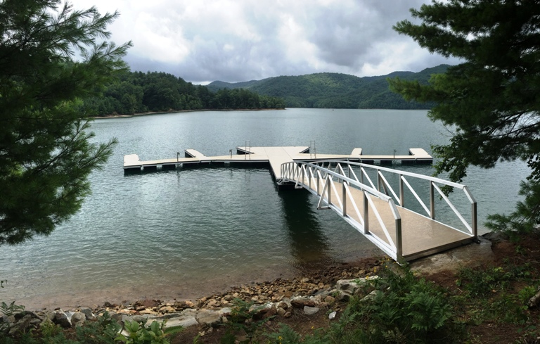 Lake Nantahala, Arrowhead Point, Western North Carolina, custom engineered