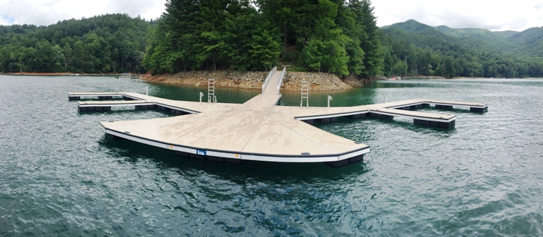 Lake Nantahala, arrowhead point, boat dock, multi-slip boat dock