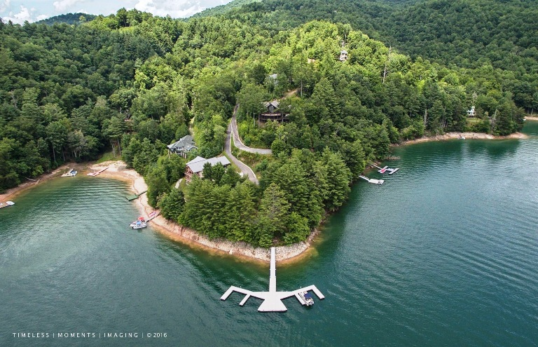 Lake Nantahala, Arrowhead Point, commercial boat dock, Custom boat dock