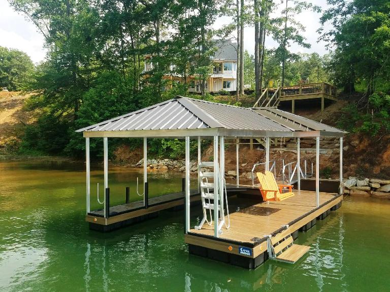 Clemson Tigers, wet steps, dock accessories, boat dock