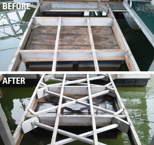 all welded construction, dock repairs, dock refurbishing, dock restoration, dock relocation