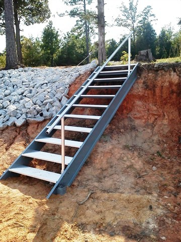 corps of engineers approved shoreline steps, dredging, rip raft, erosion control
