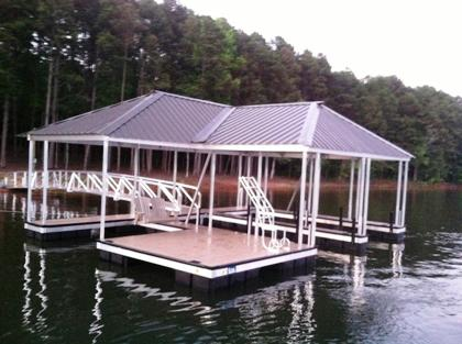 aluminum dock, floating dock, boat dock, custom built dock