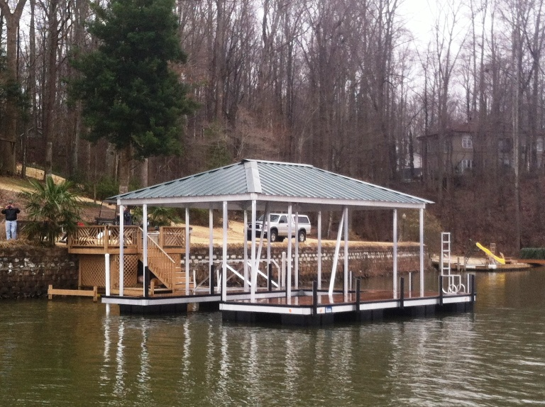 lake bowen docks, spartanburg docks, custom built docks in spartanburg
