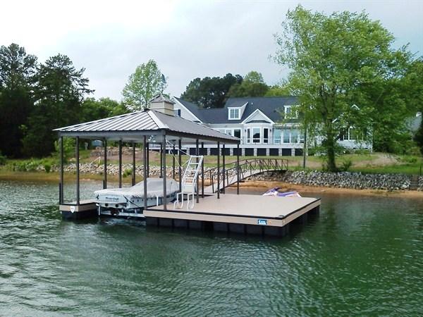 extended sundeck dock, boat docks, cupola, weathervane, swim ladder