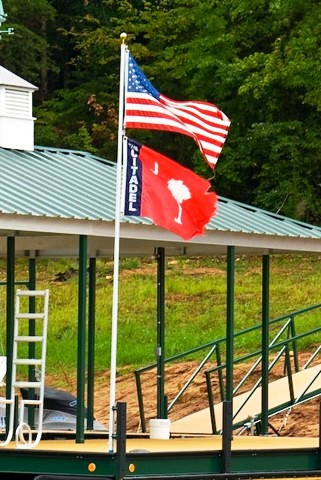 flagpole, amercian flag, dock accessories, flagpole for dock, lake living
