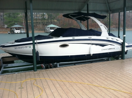 boat lift, hydrohoist lift, sturdy boat lift, lake hartwell, lake keowee