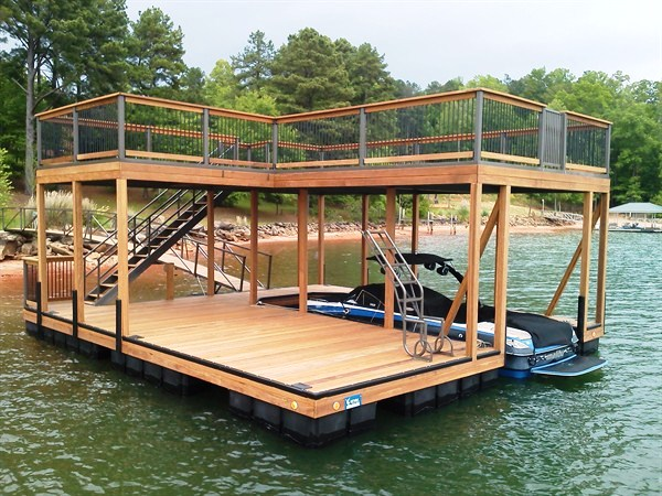 IPE Decking, IPE Capped rails, double decker, two story dock