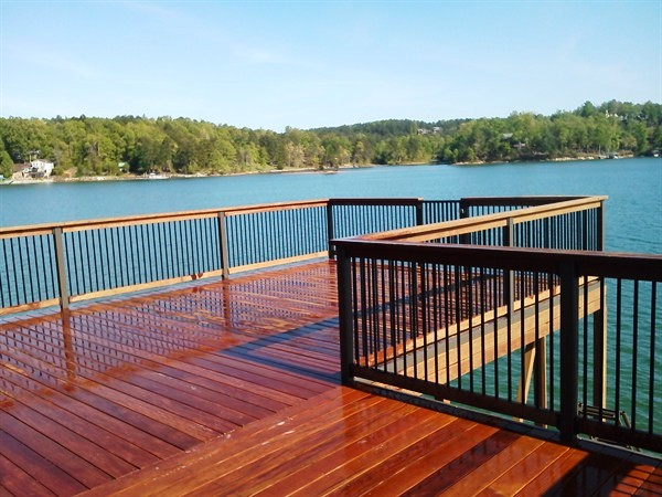 IPE Decking, IPE rails, IPE dock railing, dressing up dock