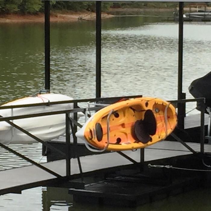 kayak holder, kayak dock, kayak, dock accessories