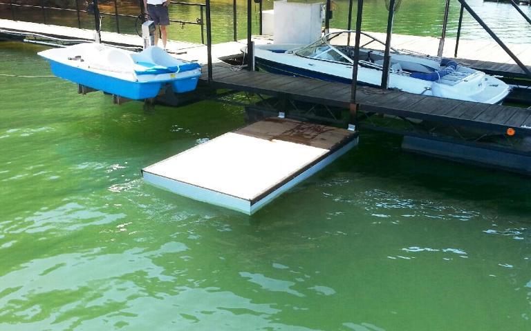 kayak launch dock, kayak dock, aluminum kayak dock