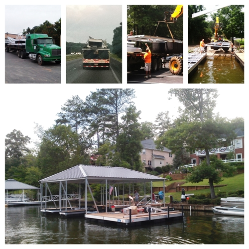 lake jackson floating docks, custom made boat docks, aluminum docks