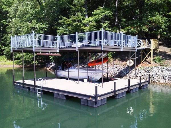 steel docks lake keowee, party deck, rip raft, erosion control, dredging