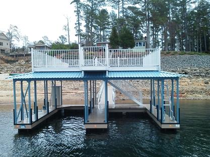 docks on lake thurmond, lake thurmond docks, boat docks, sundeck roof