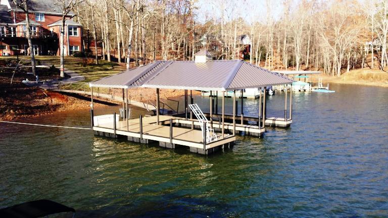 boat dock, dock box, swim ladder, lake hartwell docks