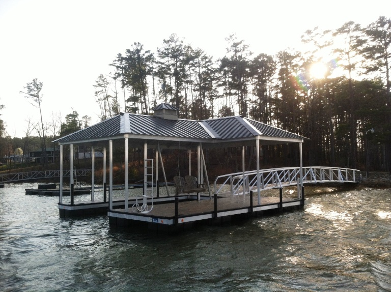 Lake Thurmond boat docks, lake thurmond aluminum dock, lake thurmond custom built dock