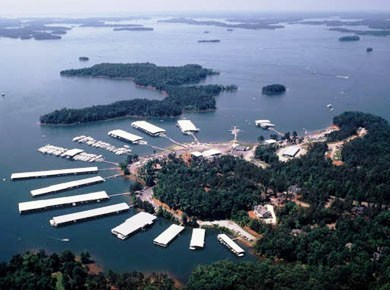 Portman Marina on lake hartwell, lake hartwell marinas, boat storage