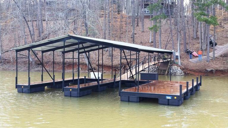 gable roof, boat dock, lake living, dock, boat