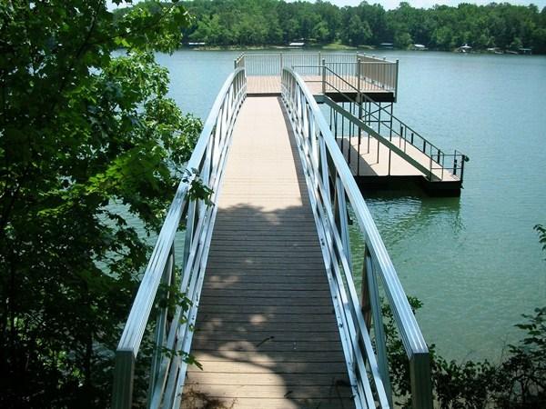 upper deck walkway, sundeck roof, custom boat docks, lake hartwell