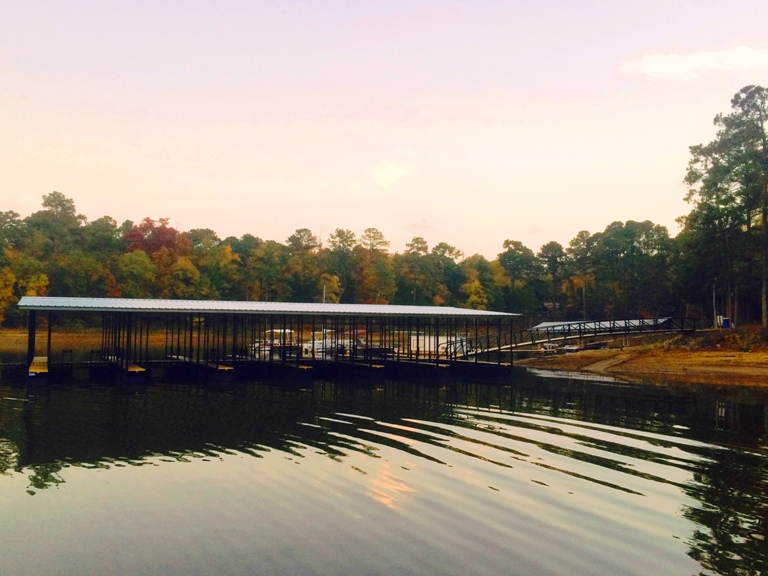 Raysville Marina, Lake Thurmond, Commercial docks, custom built multi slip dock, covered commercial docks