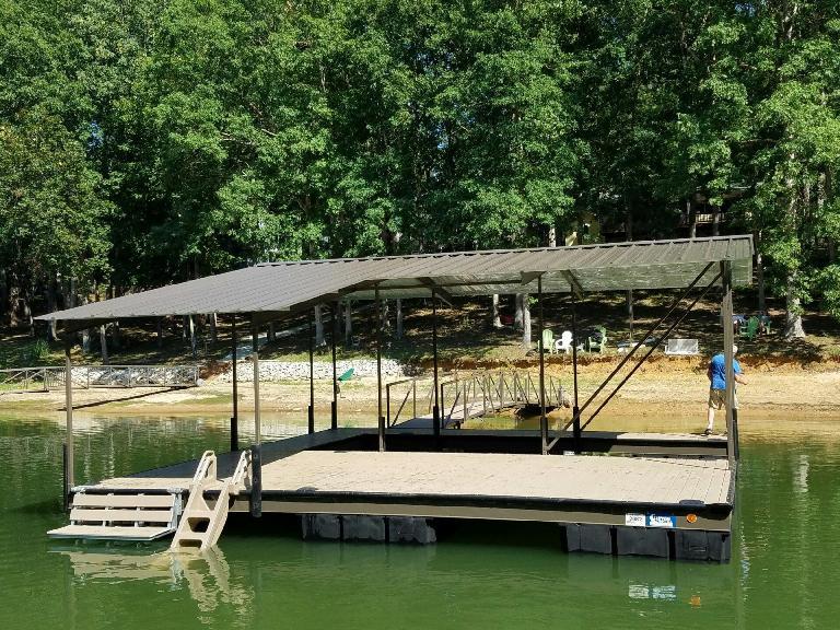 sun shade, boat dock, lake life, steel dock