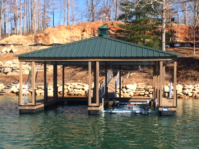 aluminum boat docks, lake keowee docks, floating boat docks