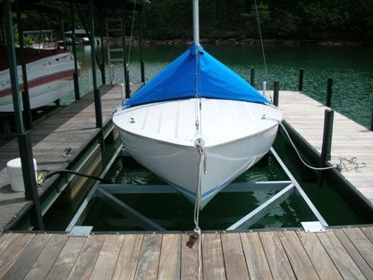 sailboat lift, floatair, hydrohoist, durable boat lift, rough water boat lift