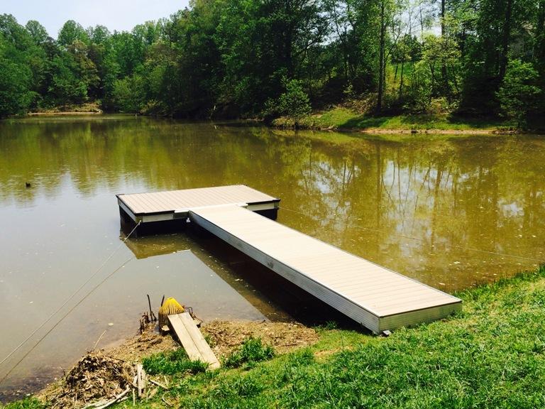 aluminum boat dock, pond boat dock, platform boat dock