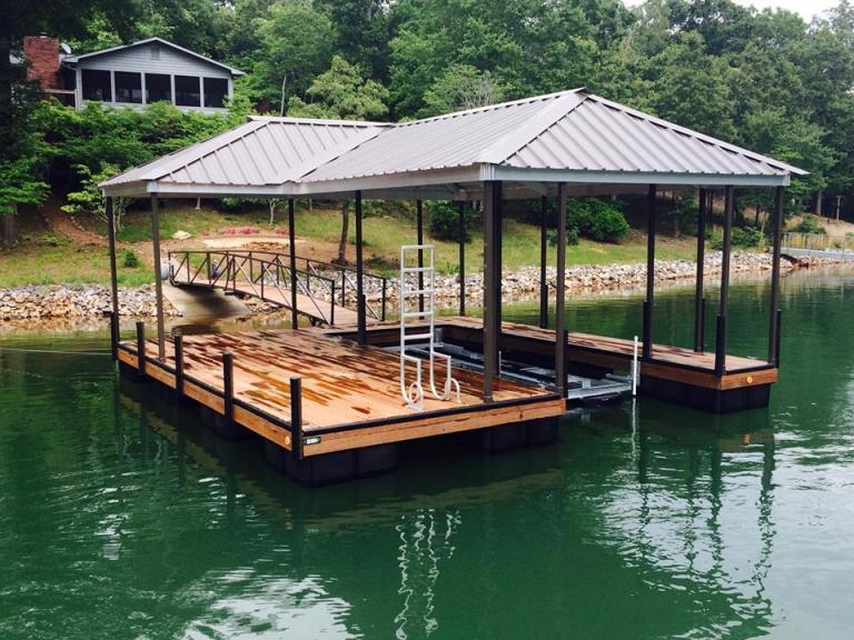 Blairsville, GA docks, lake nottely docks, lake nottely steal docks, lake nottely floating docks, Carolina lifts systems, boat lift