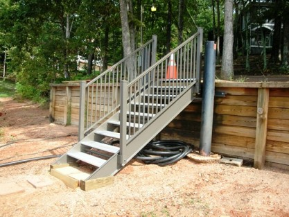 lake stairs, dock steps, steel staircase, aluminum non-skid steps