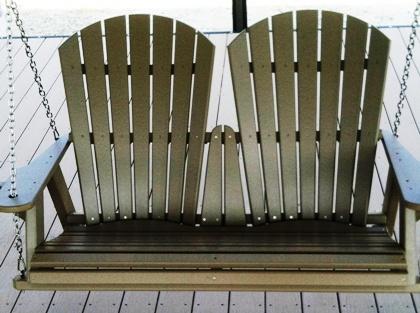 swing, dock swing, relax on dock, great gift idea