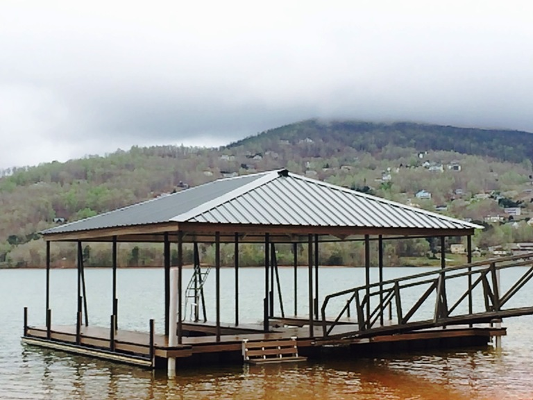 lake chatuge, lake living, boat dock, aluminum