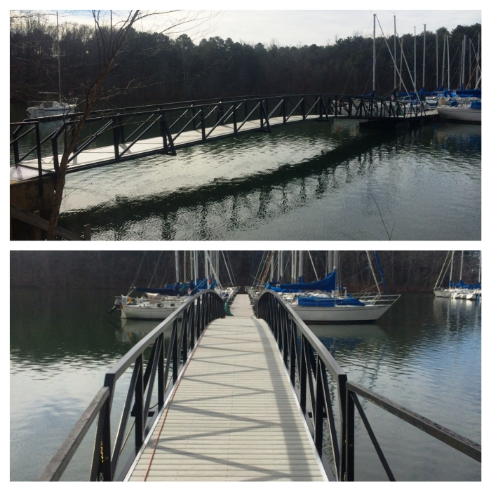 Western Carolina Sailing Club, Commercial Dock Ramp, Aluminum dock Ramp