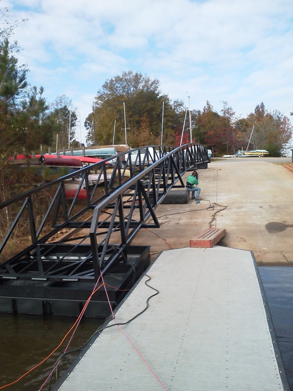 commercial walkway, commercial steel walkway, western carolina sailing club