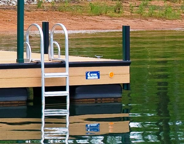 swim ladder, dock ladder, lake ladder, flip up ladder