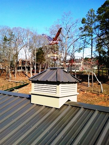 all aluminum cupolas, cupola, weathervane, dock accessories, lake hartwell