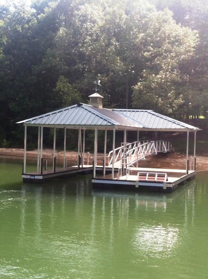 swim bench, swim ladder, cupola, weathervane, boat dock