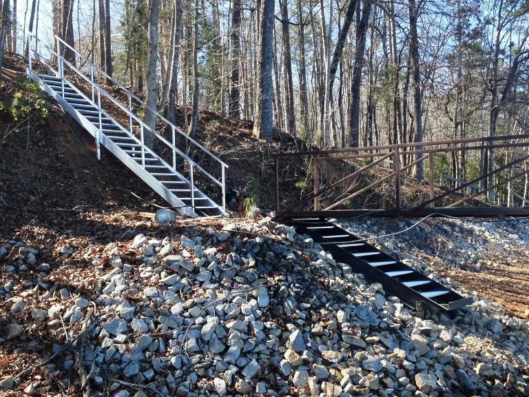 pier steps, lake stairs, lake hartwell, lake keowee, aluminum steps, staircase