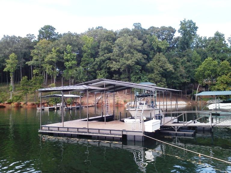 steel double slip dock, foating dock, boat dock, steel boat dock