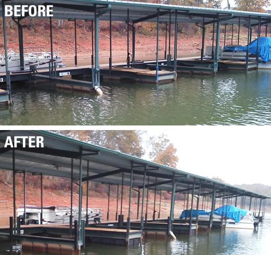 dock repairs, dock restoration, dock refurbishing, dock flotation, dock help