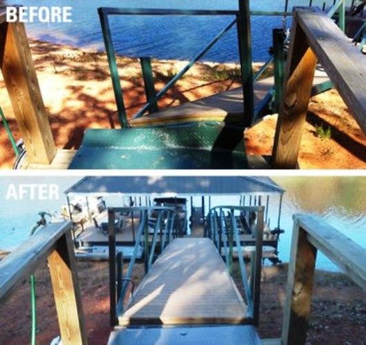 dock restoration, dock repairs lake thurmond, dock repairs lake secession