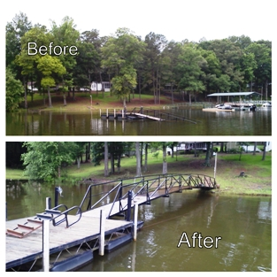 dock restoration, dock repairs, move dock in or out, custom docks