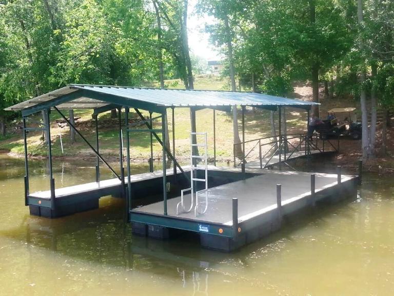 boyds mill pond, boat dock for pond, steel boat dock, ware shoals boat docks