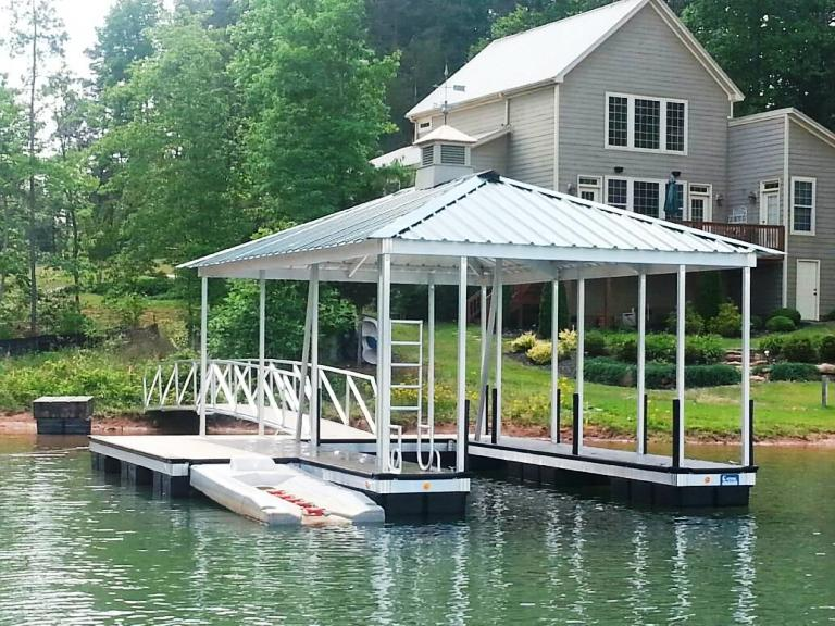 lake keowee aluminum boat dock, boat docks, lake keowee boat docks